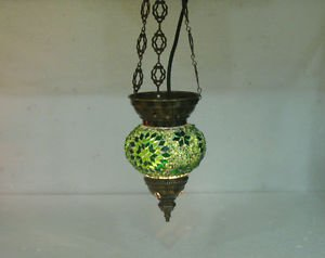 Moroccan lantern mosaic hanging lamp glass chandelier light lampen candle h 199