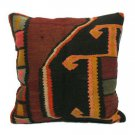 Antique Decorative Couch Throw Pillow Turkish Kilim Rustic Cushion 24'' (y009)