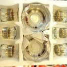Turkish tea set tea glasses ottoman cups glass mug hot tea glasses tribal set 24