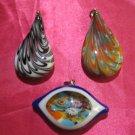 glass necklace pendant jewellery glass pendant handmade art work ko 16