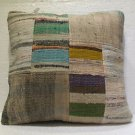 Antique Decorative Couch Throw Pillow Turkish Kilim Rustic Cushion 49cm (14)