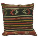 Antique Decorative Couch Throw Pillow Turkish Kilim Rustic Cushion 24'' (y043)