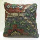 Embroidery Turkish handmade cecim kilim pillow cushion 15.6'' x 15.6'' (116 )