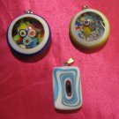 glass necklace pendant jewellery glass pendant handmade art work ko 12