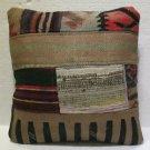 Antique Decorative Couch Throw Pillow Turkish Kilim Rustic Cushion 45cm (13)