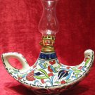 aladdin oil lamp candle ceramic light turkish tile table lamp magic light 2