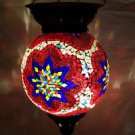 moroccan lantern hanging lamp glass chandelier light lampen handmade candle m 77