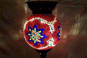 moroccan lantern hanging lamp glass chandelier light lampen handmade candle m 77