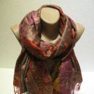 Pashmina scarf shawl Infinity Scarf cashmere feel super soft shoulder scarf 014
