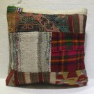 Antique Decorative Couch Throw Pillow Turkish Kilim Rustic Cushion 18'' (8)
