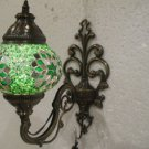 Green mosaic glass sconce lamp wall light lampe mosaique electric wall candle 14