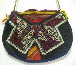 turkish bag embroidery bag suzani fabric antique vintage bag vintage purse c 06