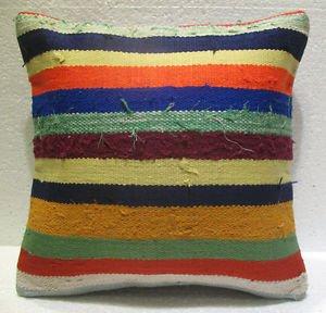 Antique Decorative Couch Throw Pillow Turkish Kilim Rustic Cushion 16.4'' n 25