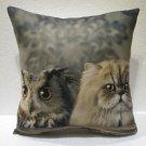 cat & owl pillow cushion home decor modern decoration sofa cover throw 58