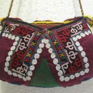 Wine red emroidery fine suzani purse antique Turkish bag vintage purse c 031