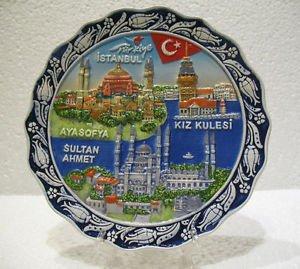 Hagia sophia blue mosque SultanAhmet camii The Maiden's Tower Turkish ceramic 3