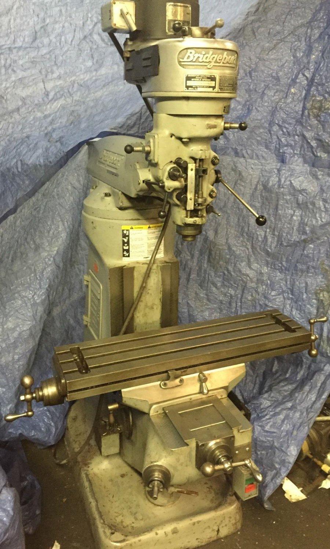 1 HP BRIDGEPORT MILLING MACHINE