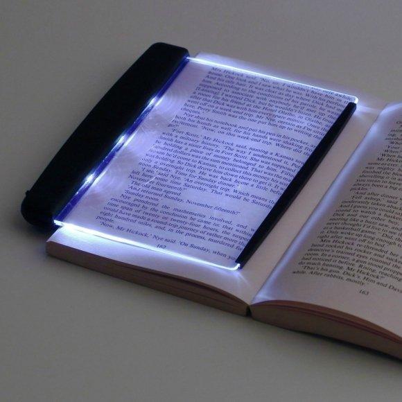 LED Light wedge Panel Book Reading Lamp Paperback