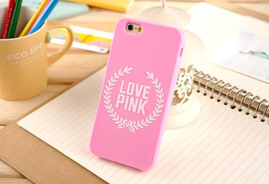 Victoria Secret I love pink Silicone Case for iphone  5 6 6 plus