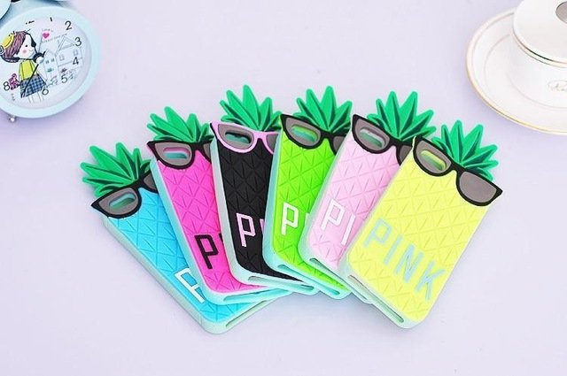 Victoria Secret Pineapple shape case back cover for iphone 4 5 5s 6