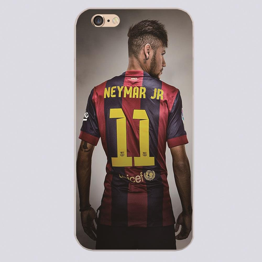 JR Neymar Number Hard Transparent  Case  Coque Shell for iPhone 4 4s 5 5s 5c 6 6 Plus