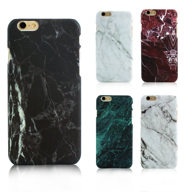 Marble Phone Case Hard PC Cover for iPhone 6 6S 6 Plus 5 5s 4