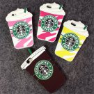 3D Cartoon Silicon Starbuck Coffee Cup Case Cover for Apple iPhone 4 4s 5 5s SE 6 6S 6