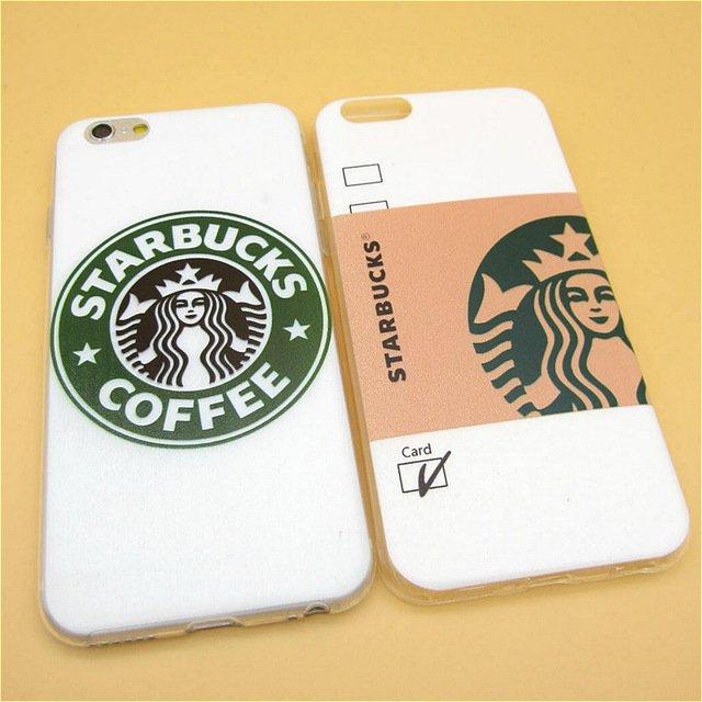 Starbuck Coffee TPU Slim Back Cover Skin for Apple iPhone 6 6s 4.7