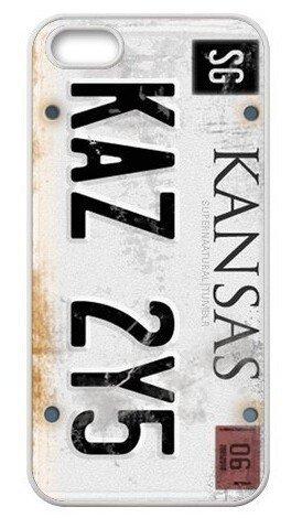 Supernatural License Plate KANSAS KAZ 2Y5 Case Cover for iPhone 4 4s 5 5s 5C 6 6 PLUS
