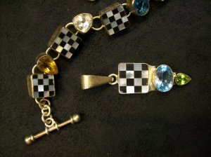 Checkered Pendant by Charles Albert