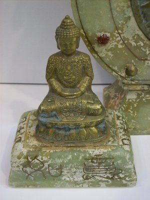 Jade Incense Burner with Buddha on Lid (Good Feng Shui)