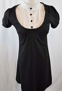 Wrapper Black and White Dress Size M