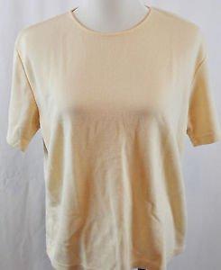 Sag Harbor Short Sleeve Blouse. Size Large