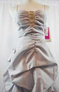 Gorgeous Silver Morgan and Company Formal Gown, Wedding, Prom Dress Size 7/8