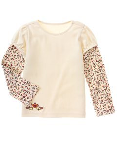 Harvest Leaves Double sleeve top size 4