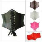 Women's Ladies Underbust Waist Wide Band Belt Lace Up Cincher Shape Corset