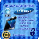 AT&T UNLOCK CODE SERVICE for Samsung Galaxy S7 S7 Edge SM-G930A SM-G935A NOTE 7