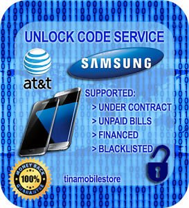 AT&T Samsung GALAXY S7,S6, S5, NOTE 5, 4, 3, ACTIVE & EDGE UNLOCK CODE SERVICE