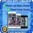 iPhone Lock Status Carrier Check - SIM-Status Checker -GSX Report