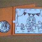 Handmade Birthday Notecard, Orange