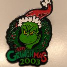 Universal Studios MERRY GRINCHMAS 2003 ISLANDS OF ADVENTURE Pin