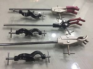 3 CLAMPS 3 BOSS HEADS LAB SUPPORT