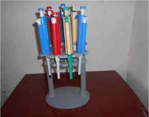 Micropipette Stand Holder Rack for Single / Multi Channel Pipettors -Holds 7