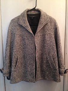 Lafayette 148 New York Black & White Women's Jacket Size 8 M