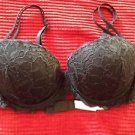 Victoria's Secret PINK Push Up Black Lace Bra 34C
