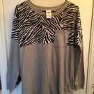 NWOT Victoria's Secret PINK Long Sleeve Shirt Zebra Pattern Size S