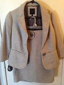 The Limited Gray Wool Suit Blazer Size S & Skirt Size 2
