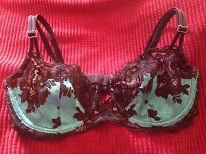 Victoria's Secret Very Sexy Unlined Demi Bra ~ Floral ~ Lace ~ 34D