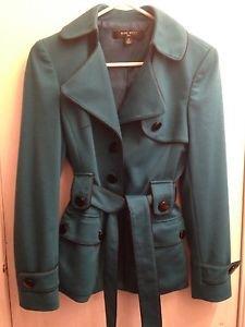 Nine West Teal Jacket Coat Suit Size 2
