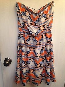 """NWOT Francesca's Collection Multi-colored Dress Size Small """"Cute Dress"""""""